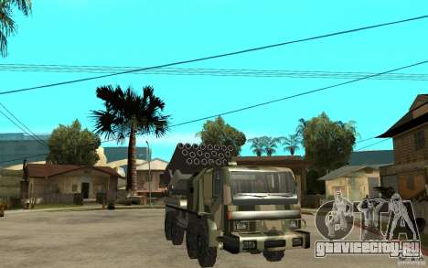 Missile Launcher Truck для GTA San Andreas вид сзади