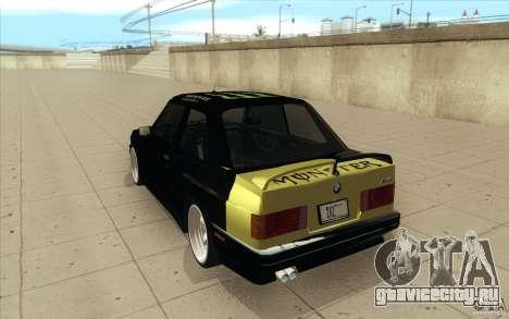 BMW E30 323i для GTA San Andreas вид сбоку