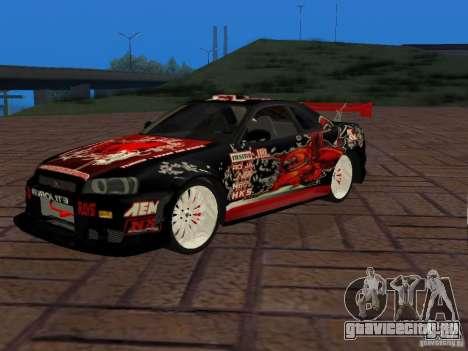 Nissan Skyline GT-R R34 Tunable для GTA San Andreas вид справа
