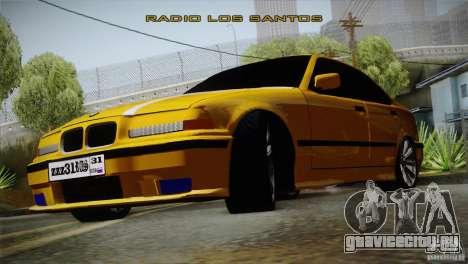 BMW M3 Z366 для GTA San Andreas вид сзади слева