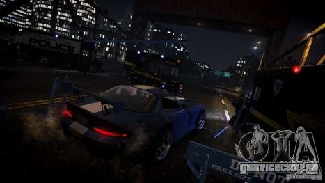Boxville Police для GTA 4 вид сзади