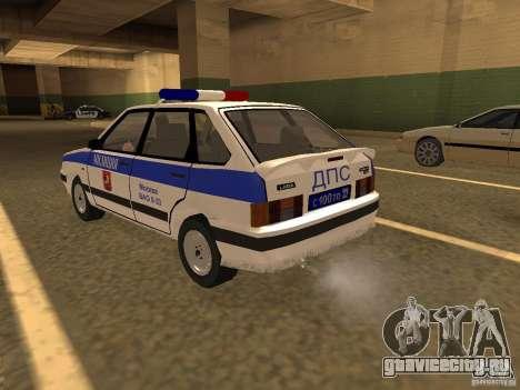 ВАЗ 2114 Милиция для GTA San Andreas вид слева