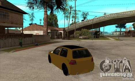 VW Golf 4 R32 для GTA San Andreas вид сзади слева