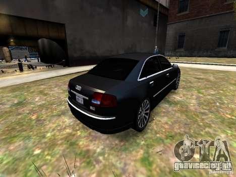 Audi A8L W12 для GTA 4 вид сзади