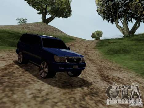 Toyota Land Cruiser 100 для GTA San Andreas вид справа