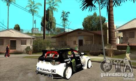 Subaru Impreza 2009 (Ken Block) для GTA San Andreas вид справа