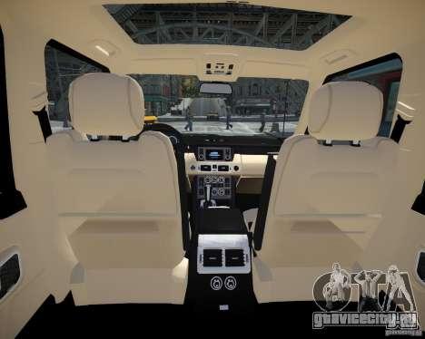 Land Rover SuperСharged для GTA 4 вид изнутри