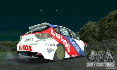 Subaru Impreza WRX STi Russia Rally для GTA San Andreas вид сзади