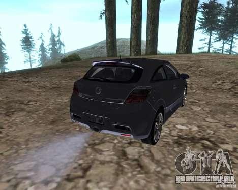 Vauxhall Astra VXR для GTA San Andreas вид сзади слева