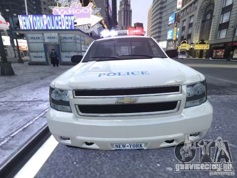 Chevrolet Tahoe Homeland Security для GTA 4 вид изнутри