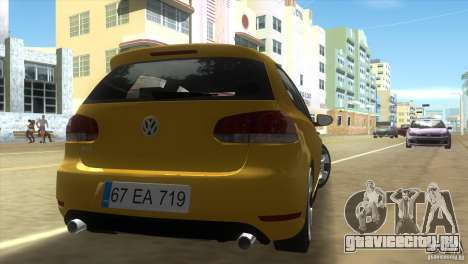 Volkswagen Golf 6 GTI для GTA Vice City вид сзади слева