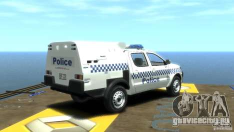 Toyota Hilux Australian Police ELS для GTA 4 вид сзади слева