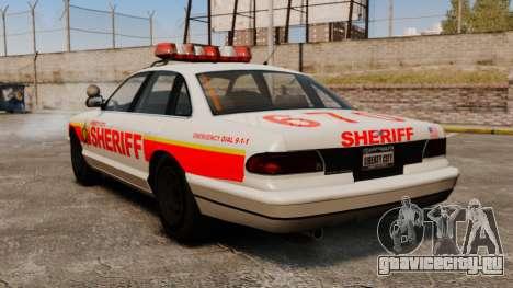 Новый Police Cruiser для GTA 4 вид сзади слева