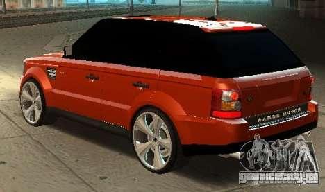 RANGE ROVER SPORT v 2.0 для GTA San Andreas вид слева