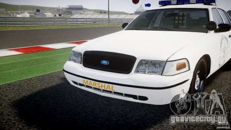 Ford Crown Victoria US Marshal [ELS] для GTA 4 вид сверху