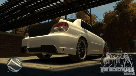 Subaru Impreza 2005 для GTA 4 вид сзади