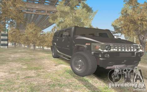 Hummer H2 Stock для GTA San Andreas вид сзади