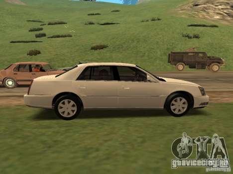 Cadillac DTS 2010 для GTA San Andreas вид сзади слева