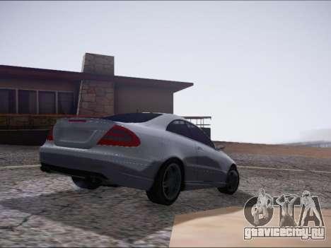 Mercedes-Benz CLK для GTA San Andreas вид сзади слева