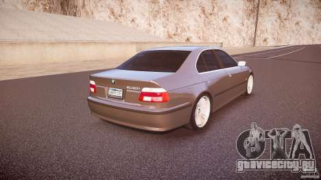 BMW 530I E39 stock white wheels для GTA 4 вид сбоку