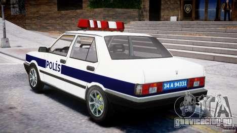 Tofas Sahin Turkish Police v1.0 для GTA 4 вид сзади слева