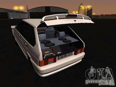 ВАЗ 2114 Хулиган для GTA San Andreas вид изнутри