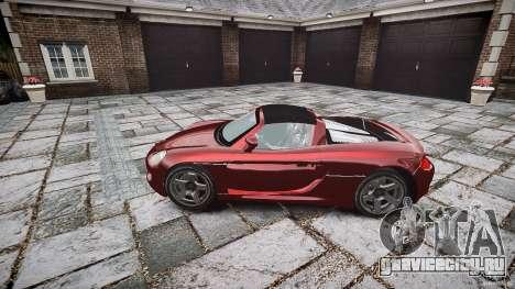 Porsche Carrera GT для GTA 4 вид сзади
