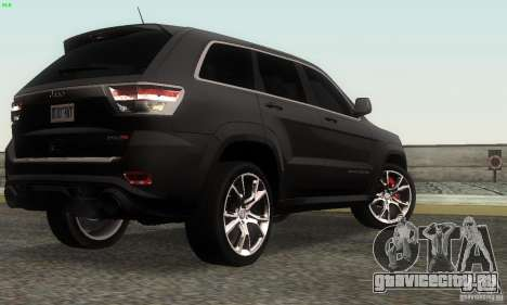 Jeep Grand Cherokee SRT8 для GTA San Andreas вид слева