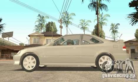 Honda Civic 1998 для GTA San Andreas вид справа