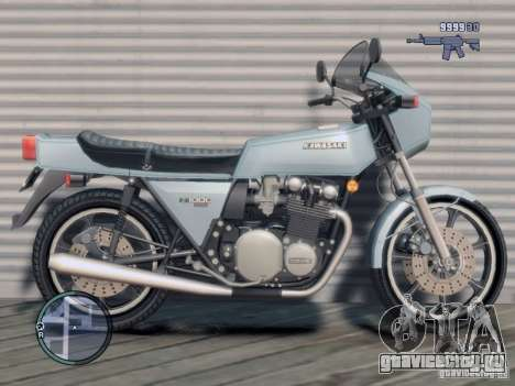 Kawasaki Z1-R для GTA 4 вид слева