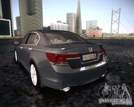 Honda Accord 2011 для GTA San Andreas вид слева