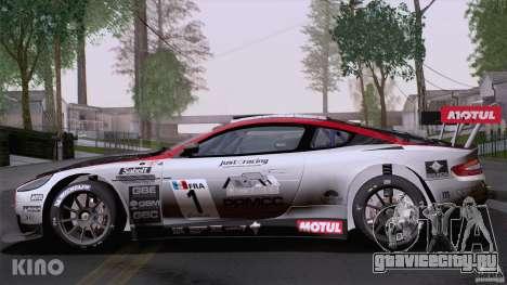 Aston Martin Racing DBRS9 GT3 для GTA San Andreas вид снизу