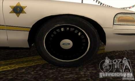 Ford Crown Victoria Illinois Police для GTA San Andreas вид справа