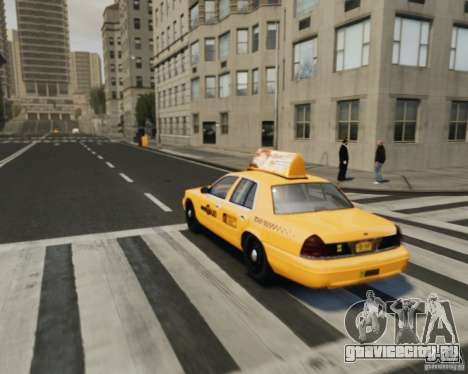 Ford Crown Victoria NYC Taxi 2012 для GTA 4 вид изнутри