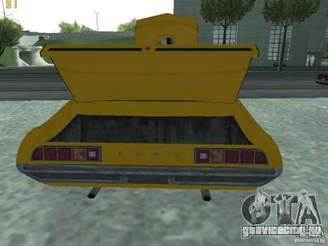 Ford Torino 70 для GTA San Andreas вид сзади