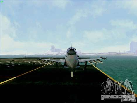 Eurofighter-2000 Typhoon для GTA San Andreas вид сзади