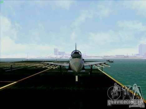 Eurofighter-2000 Typhoon для GTA San Andreas вид сзади
