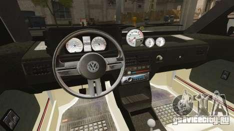 Volkswagen Saveiro 1990 Turbo для GTA 4 вид сбоку