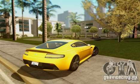Aston Martin V12 Vantage для GTA San Andreas вид сзади