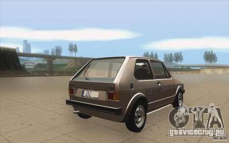 Volkswagen Golf Mk1 - Stock для GTA San Andreas вид сбоку