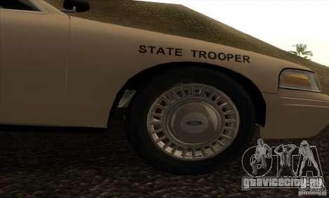 Ford Crown Victoria Iowa Police для GTA San Andreas вид справа