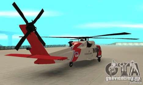HH-60 Jayhawk USCG для GTA San Andreas вид слева
