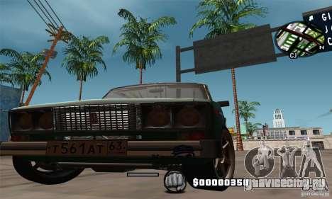 ВАЗ 2106 для GTA San Andreas вид изнутри