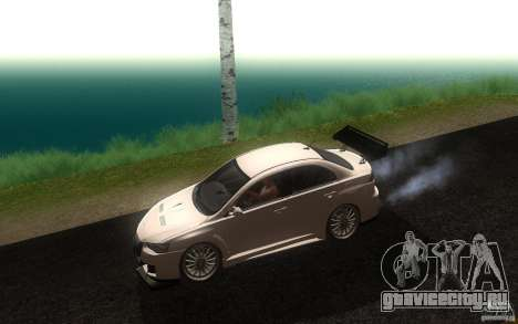 Mitsubishi Lancer EVO X drift Tune для GTA San Andreas вид слева