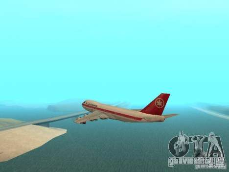 Boeing 747 Air Canada для GTA San Andreas вид слева