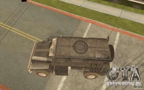 Military Truck для GTA San Andreas вид сзади слева