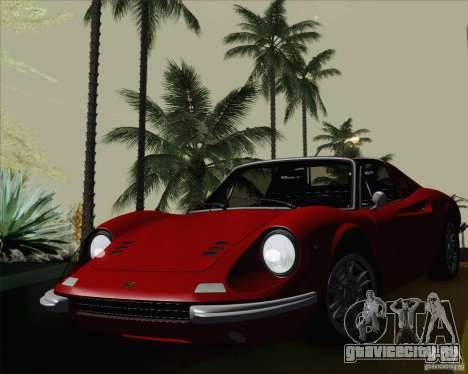 Ferrari 246 Dino GTS для GTA San Andreas вид сзади