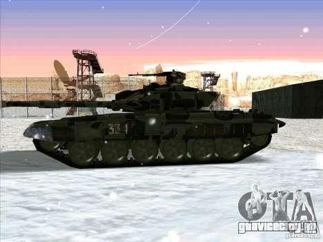 Т-90 из Battlefield 3 для GTA San Andreas вид сзади слева