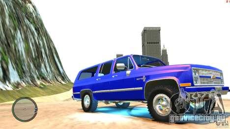 Chevrolet Suburban 1986 для GTA 4 вид изнутри