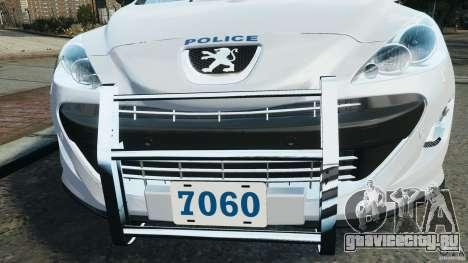 Peugeot 308 GTi 2011 Police v1.1 для GTA 4 колёса